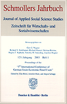 DIW Berlin: Journal of Applied Social Science Studies